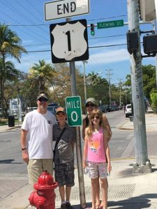 tax attorney and his family at mile marker 0